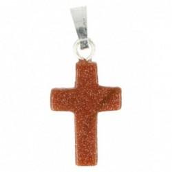 Malachiet hanger in zilver breed kruis