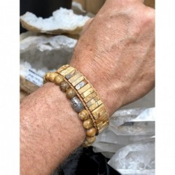 Maansteen regenboog ring zilver bewerkt nr.15 - 17