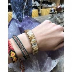 Maansteen regenboog ring zilver bewerkt nr.13 - 17