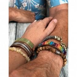 Maansteen regenboog ring zilver bewerkt nr.16 - 18